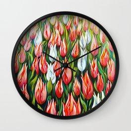 Tulips Wall Art Wall Clock
