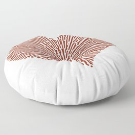 Turing Pattern Sunburst Love Heart (Red) Floor Pillow