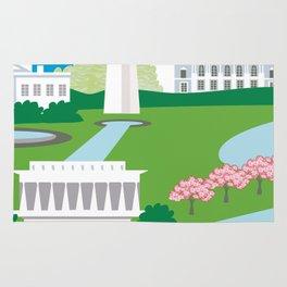 Washington, D.C. - Skyline Illustration by Loose Petals Rug