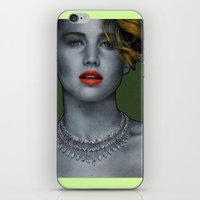 jennifer lawrence iPhone & iPod Skins featuring Jennifer Lawrence by Marv Castillo
