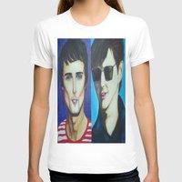 alex turner T-shirts featuring Matt Bellamy and Alex Turner by Kaila Hernandez