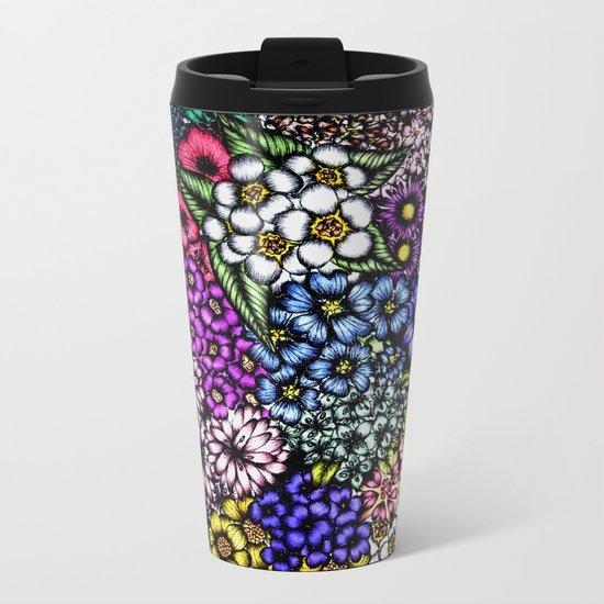 Midnight Blossoms Metal Travel Mug