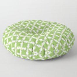 Greenery Green and White Geometric Circles Floor Pillow