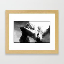 Godzilla vs Hindenburg Framed Art Print