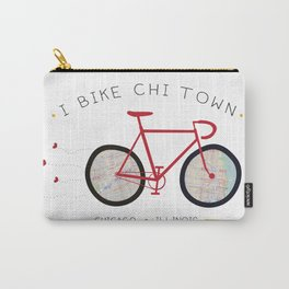 Chicago, Illinois by I Bike Carry-All Pouch