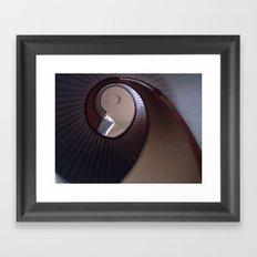 Lighthouse stairs Framed Art Print