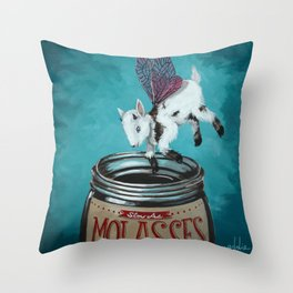 Oh My Goatness Throw Pillow