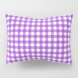 Violet Gingham Pillow Sham