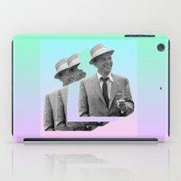 frank sinatra iPad Cases featuring frank by sebastian kainey