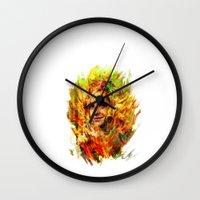 emma watson Wall Clocks featuring Emma Watson by ururuty