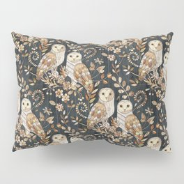 Wooden Wonderland Barn Owl Collage Pillow Sham
