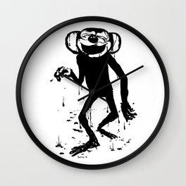 Inky Monkey Bath Wall Clock