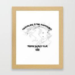 Unicorn World Tour Framed Art Print