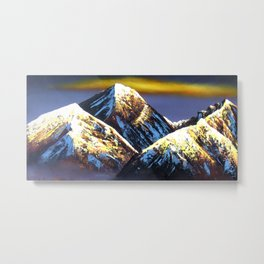Panoramic Night View Of Everest Mountain Metal Print