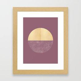 Black and Gold Circle 14 Framed Art Print