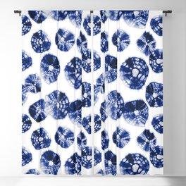 Shibori Kumo dots blue & white Blackout Curtain