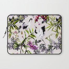 Crane bird in the exotic nature Laptop Sleeve