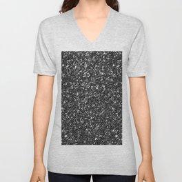 Modern Black Faux Glitter No2 Unisex V-Neck