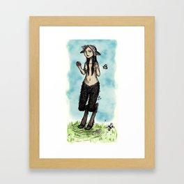 Satyress Framed Art Print
