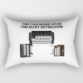 You Can Never Have Too Many Keyboards Rectangular Pillow