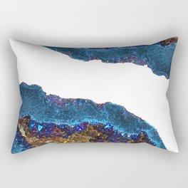 Agate metallic blue & gold Rectangular Pillow