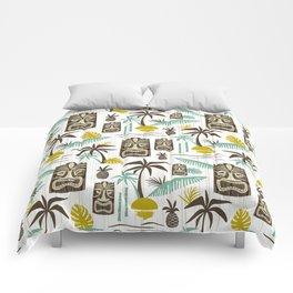 Island Tiki - White Comforters