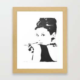 Holly Golightly Framed Art Print