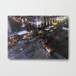 New York City Street Miniature Metal Print