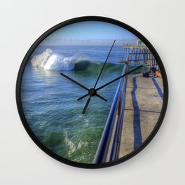 Southside Bowl Huntington Beach Pier Wall Clock