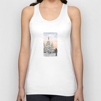 moscow Tank Tops featuring Moscow Sunset by Claire Moose