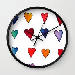 Multiple HEARTS Wall Clock