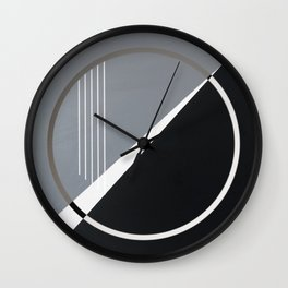 London - circle graphic Wall Clock