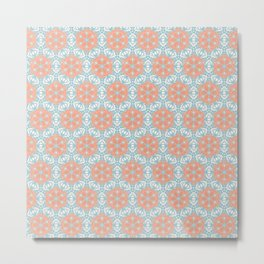 Retro Kaleidoscopic Pattern Metal Print