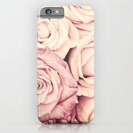 Some people grumble Floral rose roses flowers garden pink iPhone Case