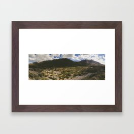 A Hike Through The Franklin Mountains Framed Art Print