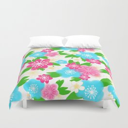 04 Pattern of Watercolor Flowers Duvet Cover