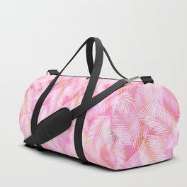 Pink Flamingo Feather Pattern Duffle Bag