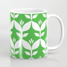 Grass green retro tulip floral Mug