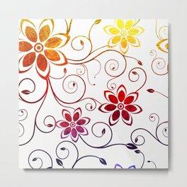 Bright Floral Design Metal Print