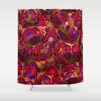 friday Shower Curtains featuring Wavy Friday by MehrFarbeimLeben