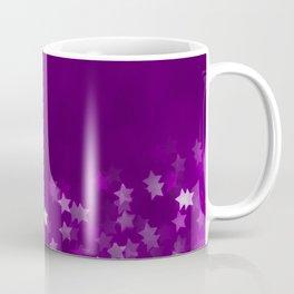 violet background with stars Coffee Mug
