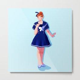 Sailor Anna Metal Print