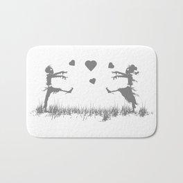 Zombies in Love Gray Bath Mat