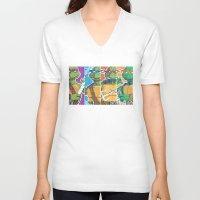 teenage mutant ninja turtles V-neck T-shirts featuring Teenage Mutant Ninja Turtles - Michelangelo by James Brunner