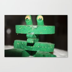 Clip Frog Canvas Print