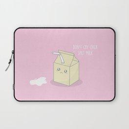 Don't Cry Over Spilt Milk #kawaii #milk Laptop Sleeve