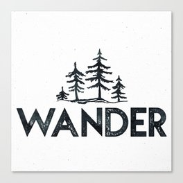WANDER Forest Trees Black and White Canvas Print