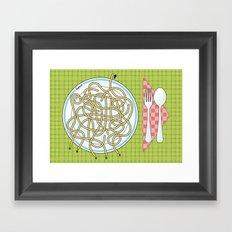 Spaghetti Maze Framed Art Print