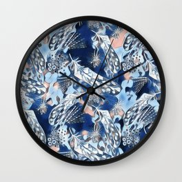 Ethnic pattern with feathers 2 Wall Clock