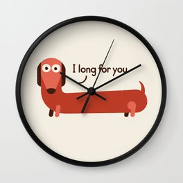 In the Wurst Way Wall Clock